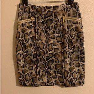 Michael Kors snakeskin print pencil skirt 12